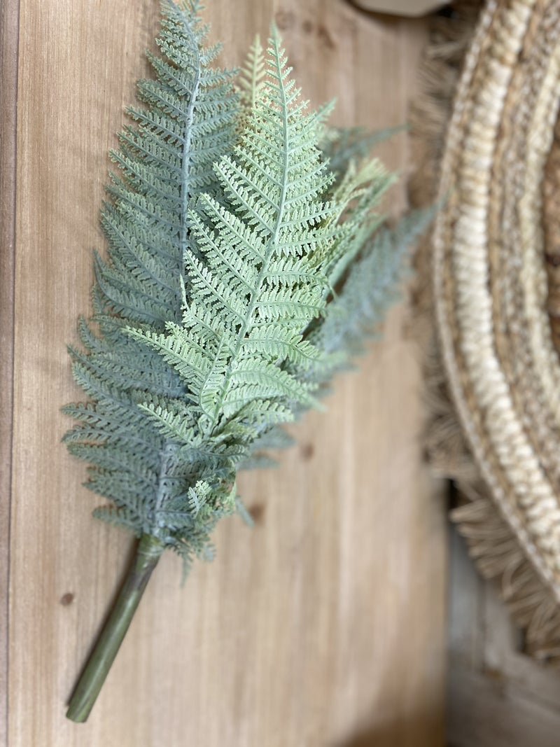 "14"" Leather Fern Bush"