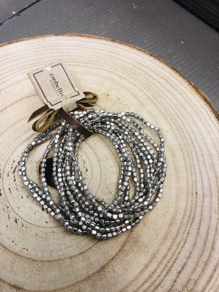 Silver 10 strand bracelet