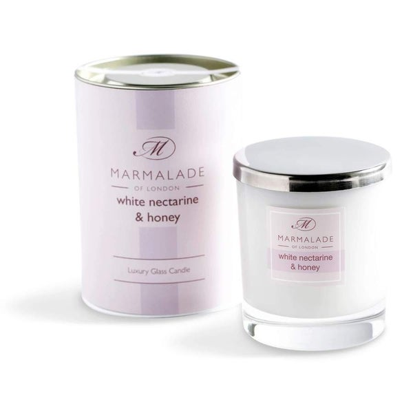 White Nectarine & Honey Luxury Glass Candle 8oz