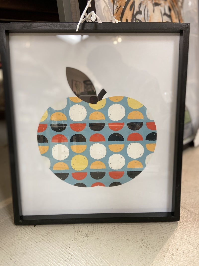 Funky framed fruit decor