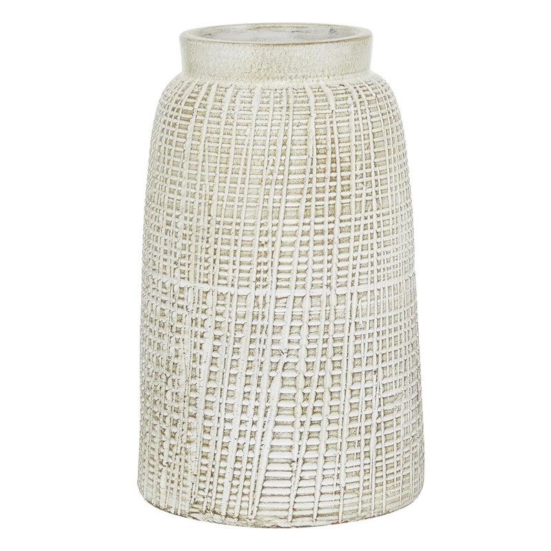 Textured Terrecotta Vase
