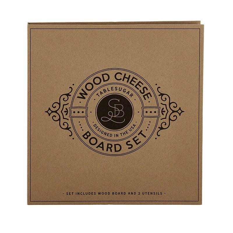 Wood Cheese Board Knife Gift Set