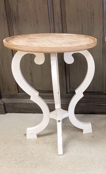 Wood Accent Table Round