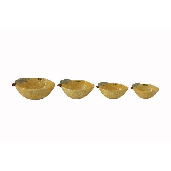 Stoneware Lemon Measuring cups