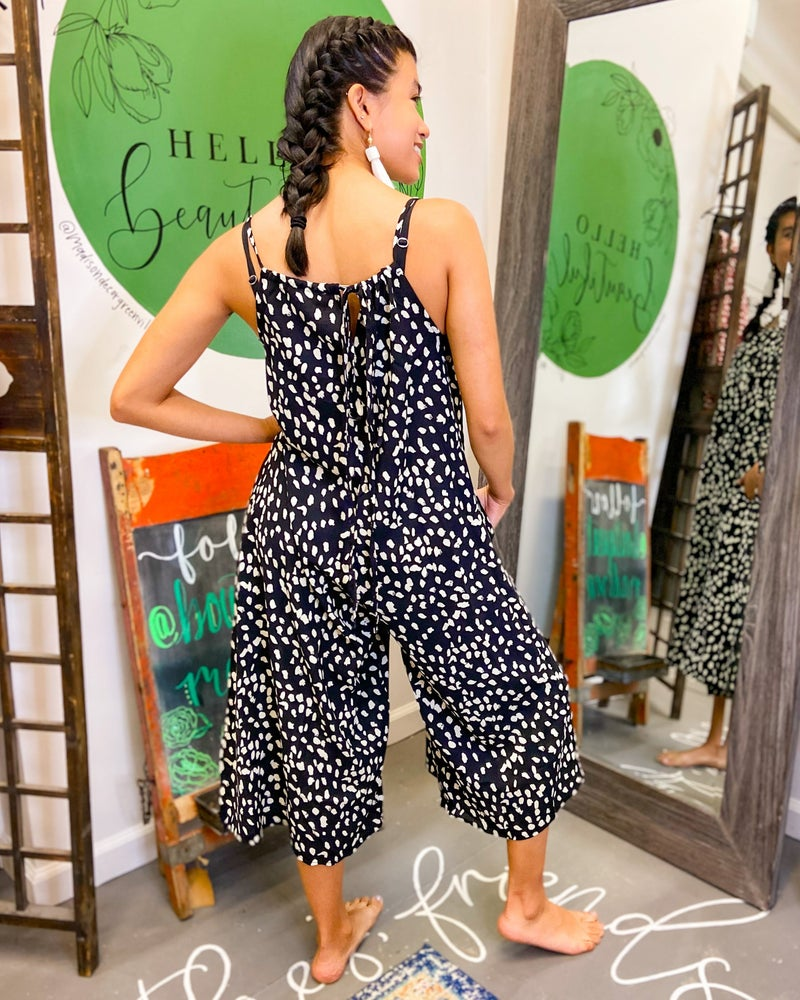 Dalmation Print Jumpsuit