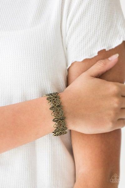 When Yin Met Yang - Brass Stretchy Bracelet