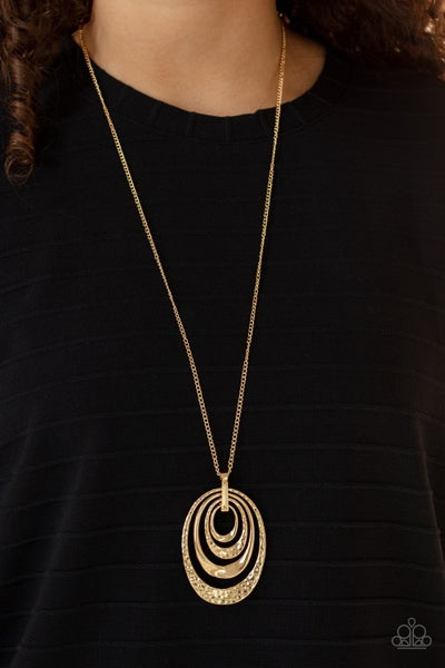 Renegade Ripples - Gold Necklace