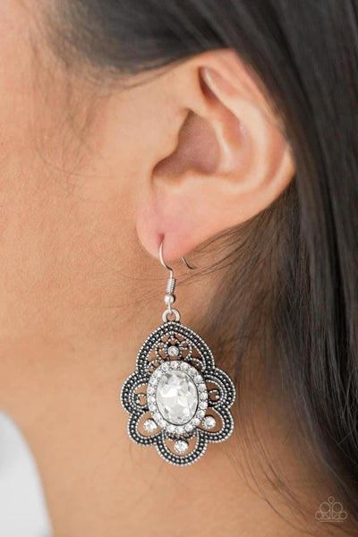 Reign Supreme - White Earrings
