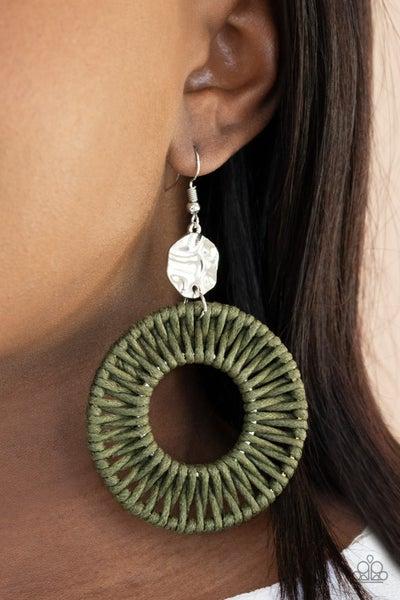Total Basket Case - Green Earrings