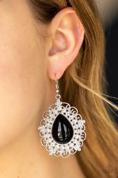 Incredibly Celebrity - Black Earrings