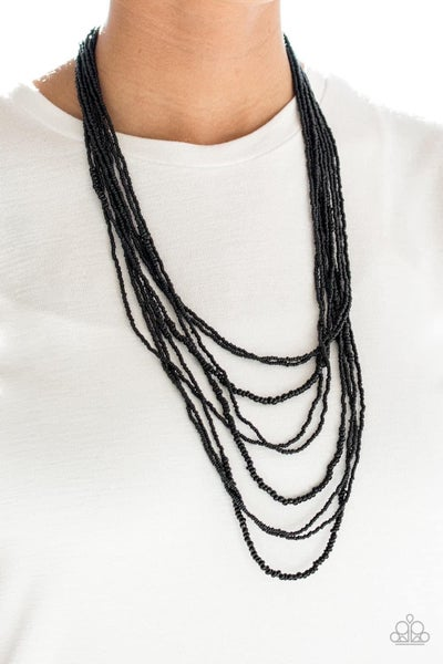 Totally Tonga - Black Seed Bead Necklace