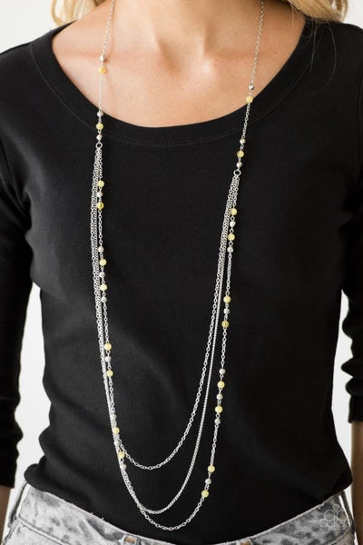 Colorful Cadence - Yellow Necklace