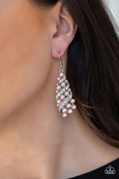Ballroom Waltz - Pink Earrings