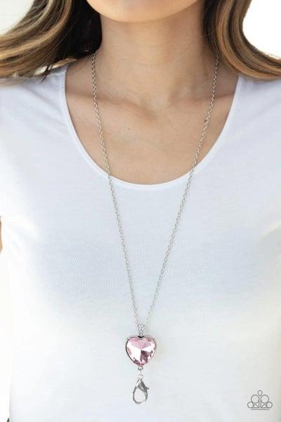 Lovely Luminosity - Pink Lanyard