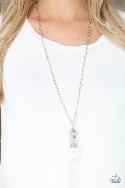 Crystal Cascade - Silver Necklace