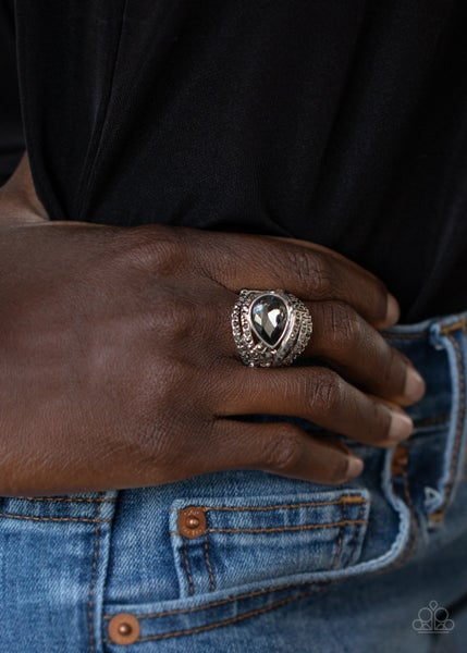 Stepping Up The Glam - Silver Ring