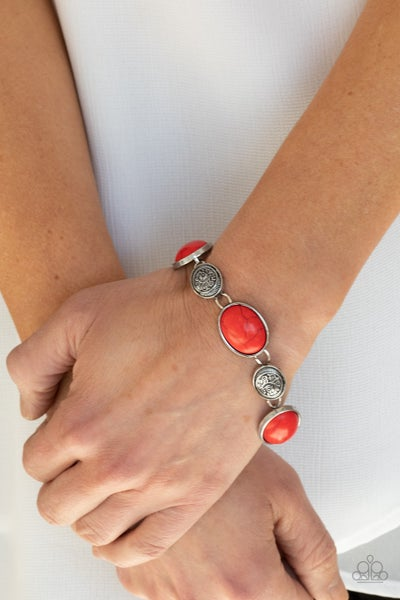 Cactus Country - Red Clasp Bracelet