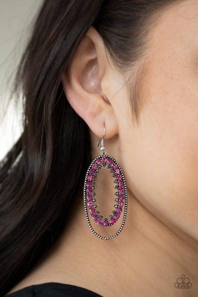 Marry Into Money - Pink Earrings