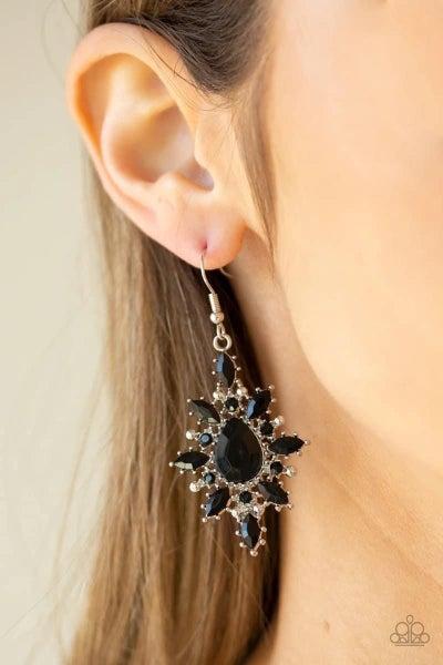 Glamorously Colorful - Black Earrings