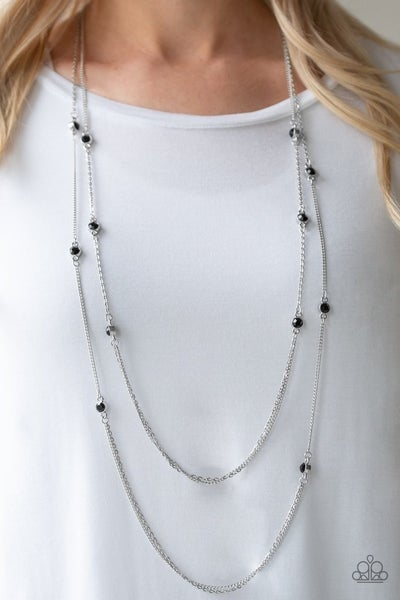Sparkle Of The Day - Black Necklace