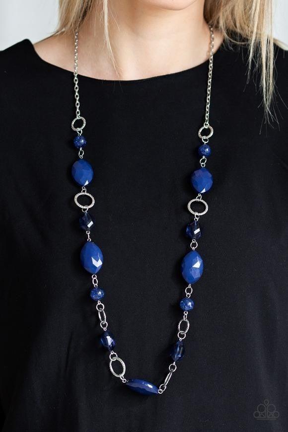 Shimmer Simmer - Blue Necklace