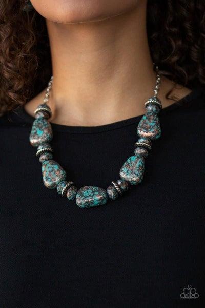 Prehistoric Fashionista - Blue Necklace