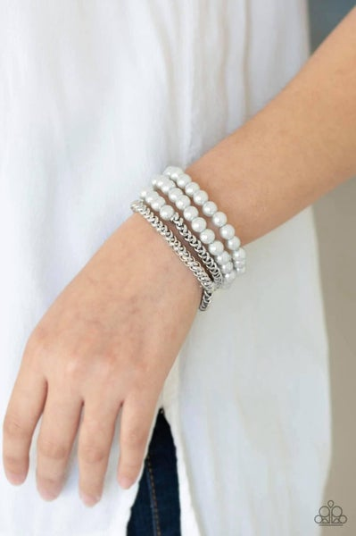 Industrial Incognito - Silver Stretchy Bracelet