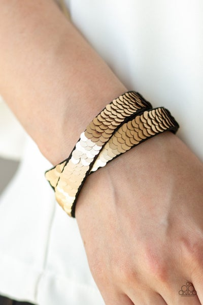 Under The SEQUINS - Brown Snap Wrap