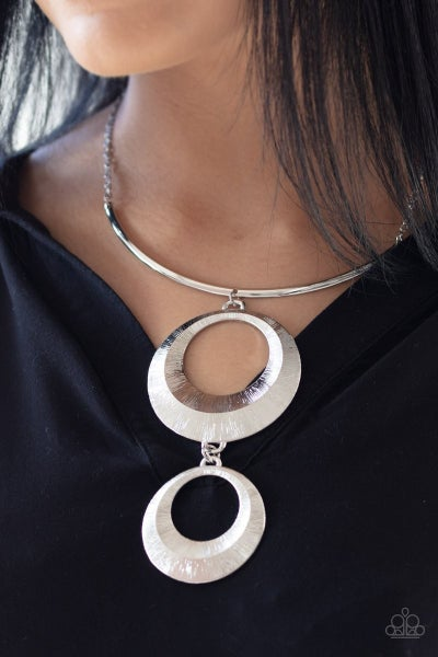 Egyptian Eclipse - Silver Necklace
