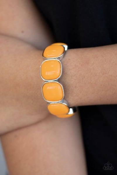 Vivacious Volume - Orange Stretchy Bracelet