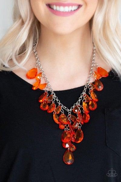 Irresistible Iridescence - Orange Necklace