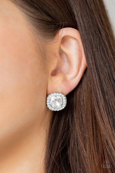 Bling Tastic! - White Earrings