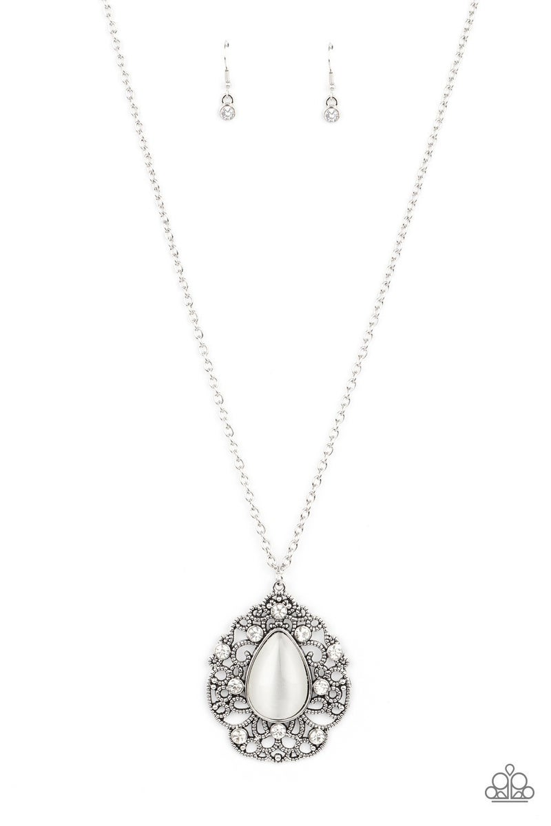Bewitched Beam - White Necklace