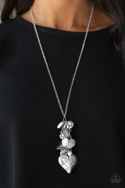 Beach Buzz - White Necklace