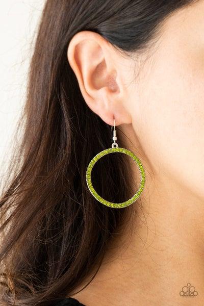 Stoppin Traffic - Green Earrings