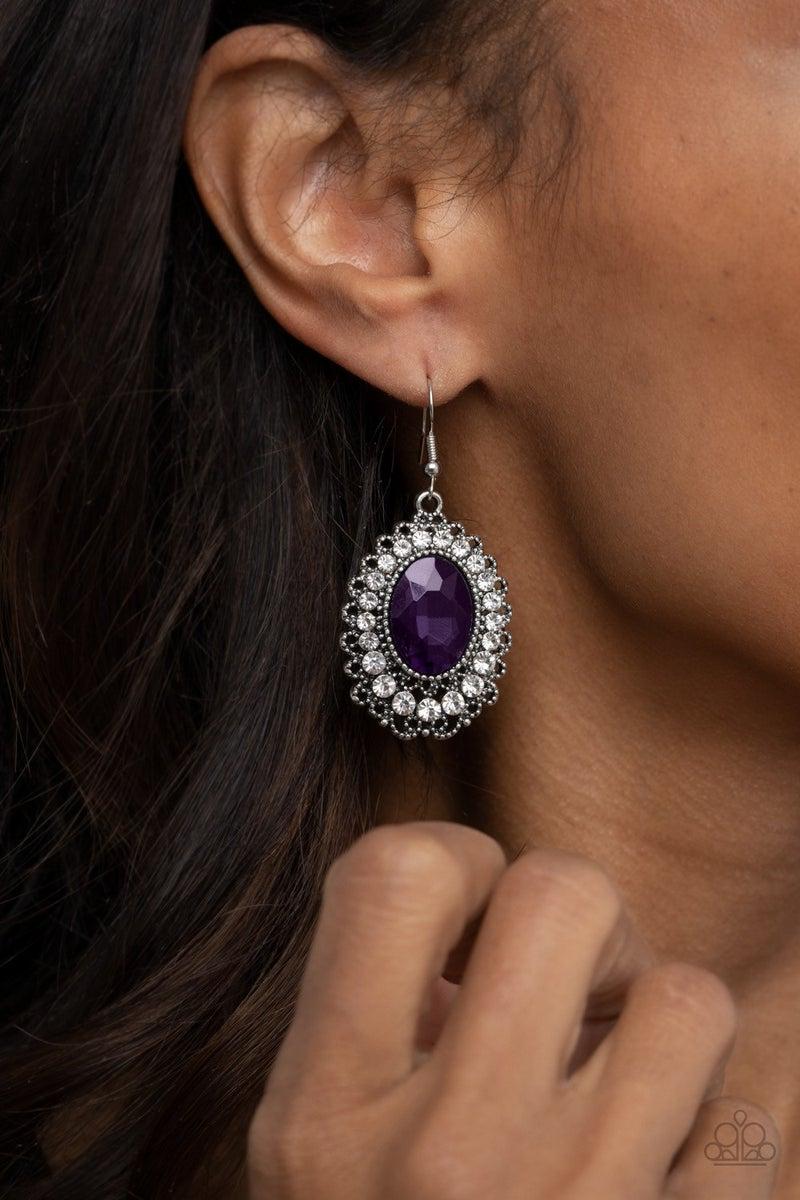 Glacial Gardens - Purple Earrings