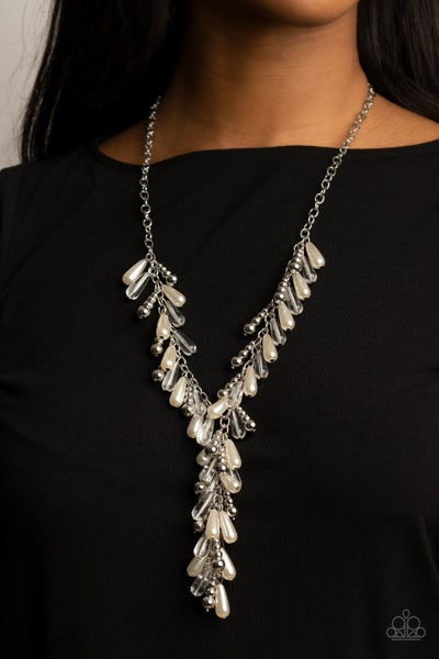 Dripping with DIVA-ttitude - White Necklace- Life of the Party April 2021