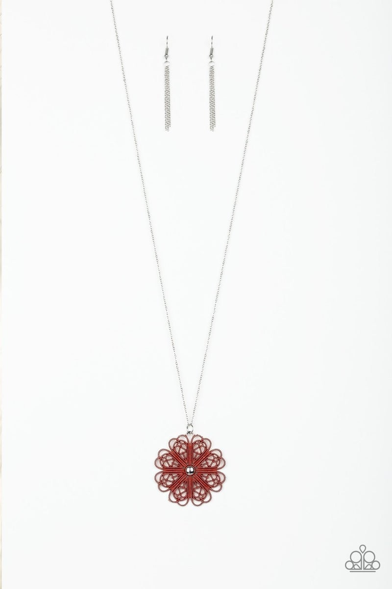 Spin Your PINWHEELS - Red Necklace