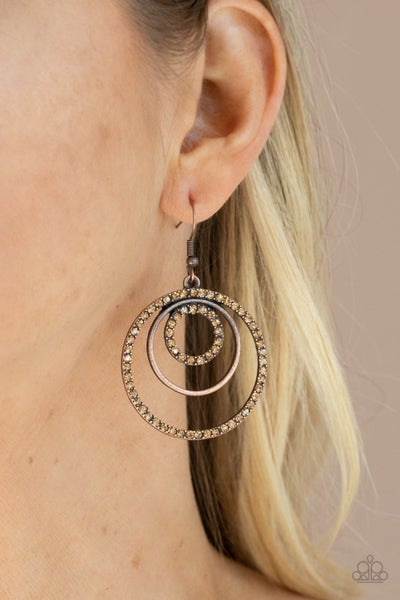 Bodaciously Bubbly - Copper Earrings
