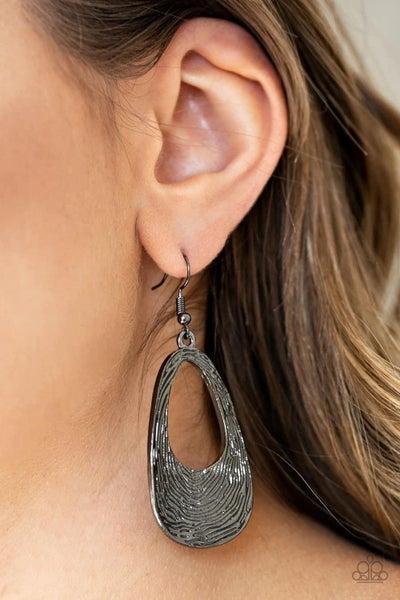 Mean Sheen - Gunmetal Earrings