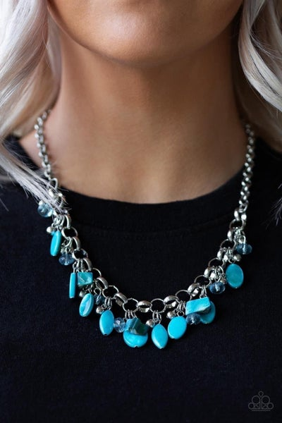 I Want To Sea the World - Blue Necklace