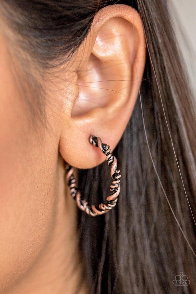 Plainly Panama – Copper Hoop Earrings