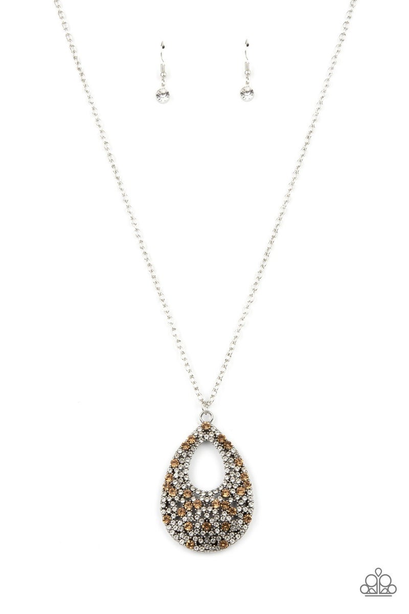 High Society Stargazing - Brown Necklace