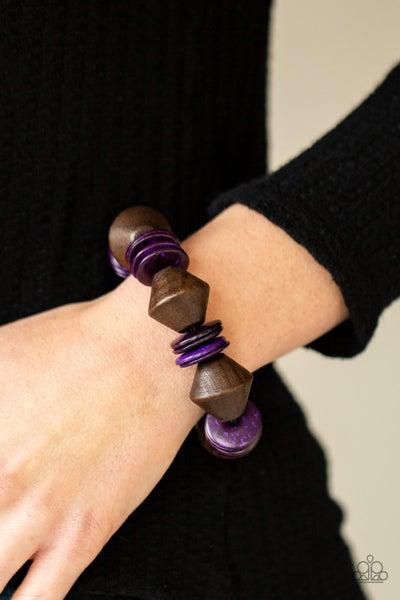 Bermuda Boardwalk - Purple Stretchy Bracelet