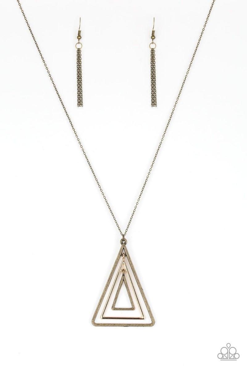 TRI Harder - Brass Necklace