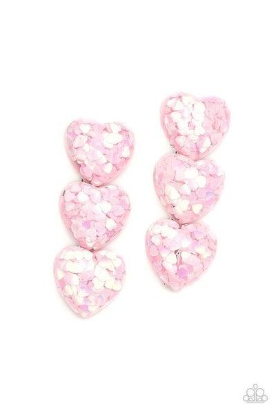 Heart Full Of Love - Pink Hair Clip