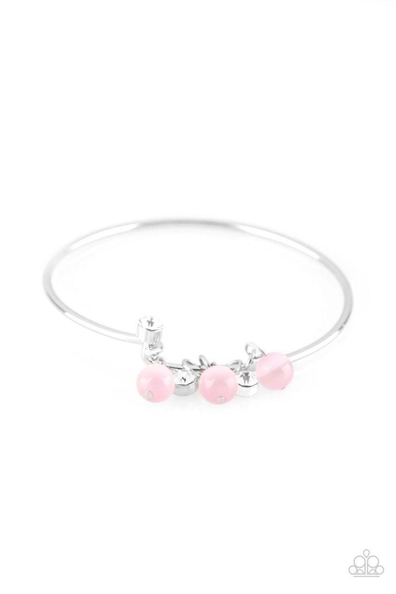 Marine Melody - Pink Hinged Bracelet