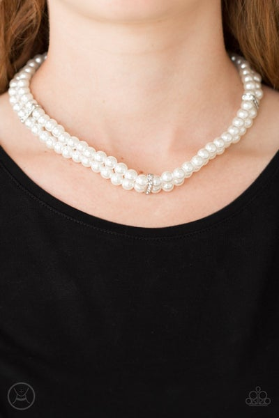 Put On Your Party Dress - White Necklace