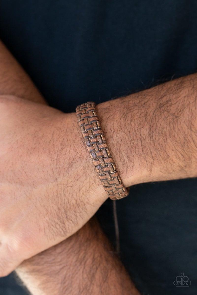 Rugged Pioneer - Brown Urban Bracelet