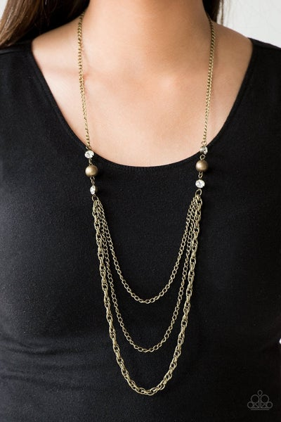 RITZ It All - Brass Necklace